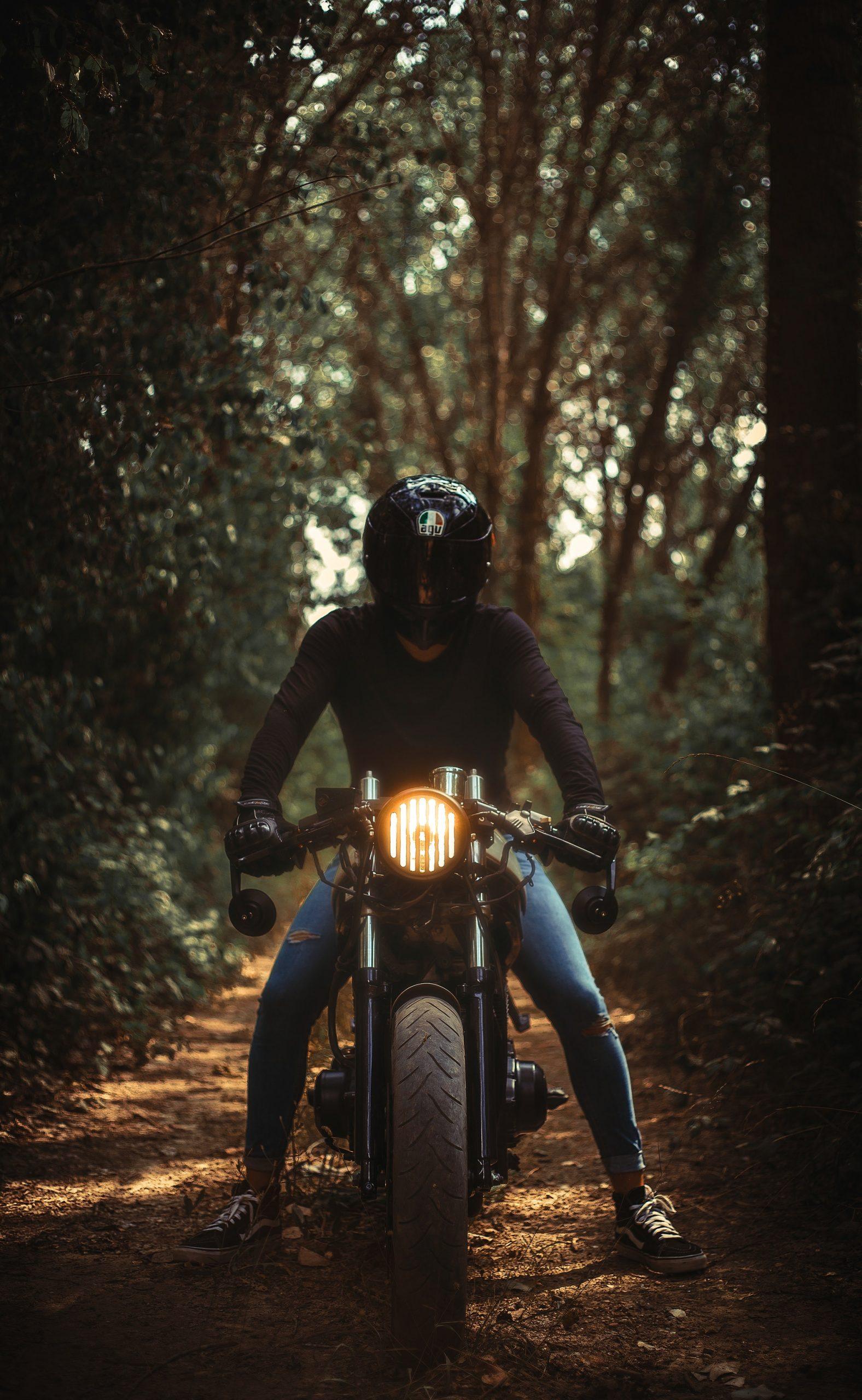 conduite-ecologique avec une moto